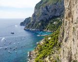 Detail of the coast of Capri