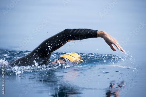 Papiers peints Nautique motorise Unknown Swimmer at sea.