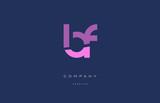 bf b f  pink blue alphabet letter logo icon - 140243382