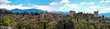 Panoramic Landscape of the Alhambra in Granada, Spain.