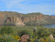 Scenic views of vast expanses of mountains, rocky ridges, and vegetation abound from Route 88 in Tonto National Forest, also known as the Apache Trail.  Canyon Lake is remote and beautiful.