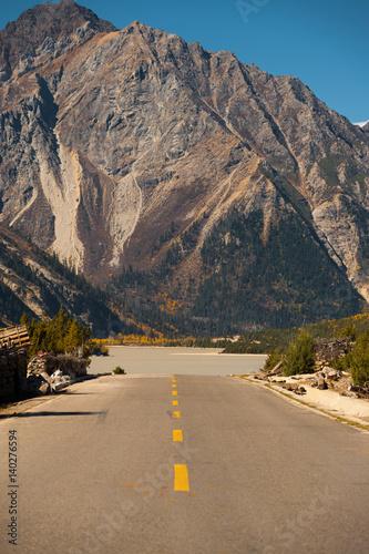 G318 Road Highway Tibet Mountain River Landscape