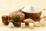 Different kinds of sugar on the table - 140290963