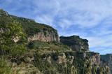 Terraced Vineyard Along the Amalfi Coast in Italy