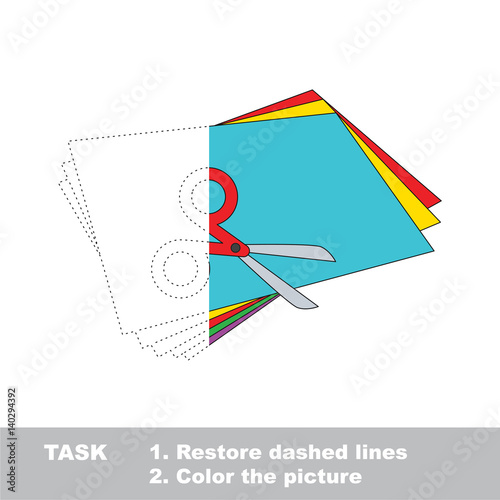 Half tracing game for kids to be colored