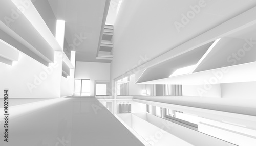 Fototapeta architectural abstract 3d rendering