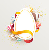 Fototapety Easter colorful poster with place for text