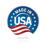 Fototapety Made in USA label logo stamp certified