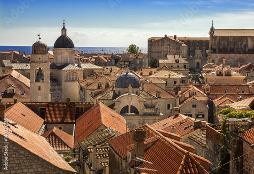 Fototapeta Old Town Dubrovnik view from City Walls