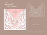 Laser cut invitation card template - 140333183