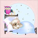 The bear sleeps