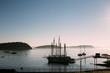 ship boat dawn sky ocean