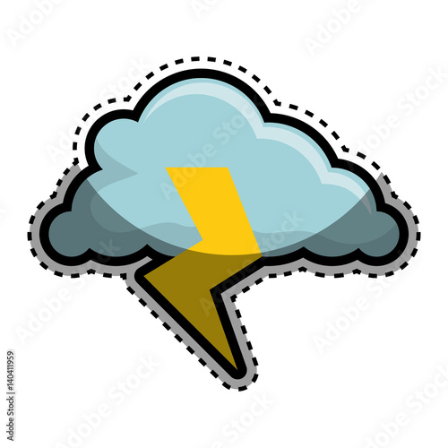 cloud with ray icon vector illustration design