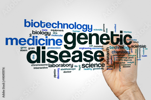 Genetic disease word cloud