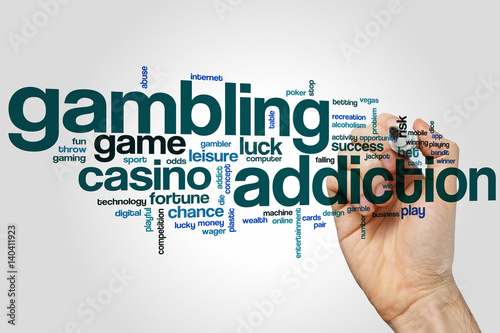 Gambling addiction word cloud плакат