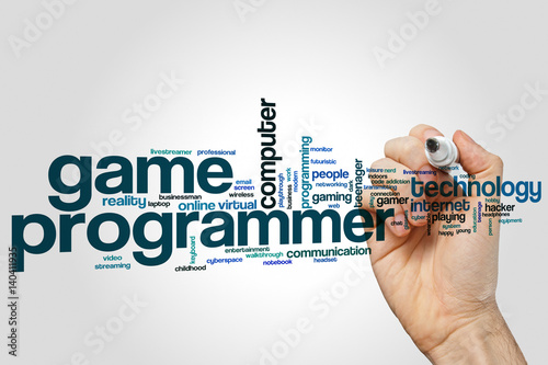 Poster Game programmer word cloud