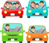 自動車と人物 正面 - 140422311