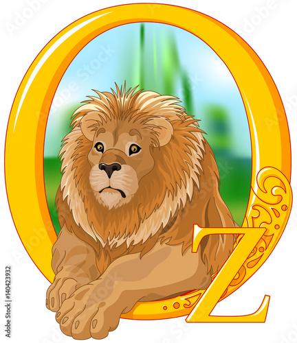 Foto op Aluminium Meisjeskamer Lion