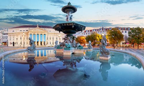 Lisbon, Portugal at Rossio Square