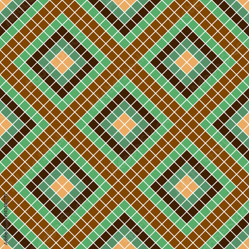 Staande foto Kunstmatig Seamless vector decorative geometric pattern. ethnic endless background with ornamental decorative elements with traditional etnic motives, tribal geometric figures. Print for wrapping, background