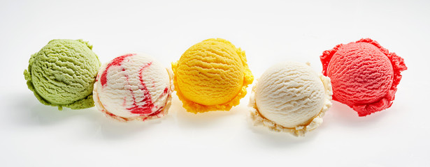 Colorful Scoops of Colorful Ice Cream