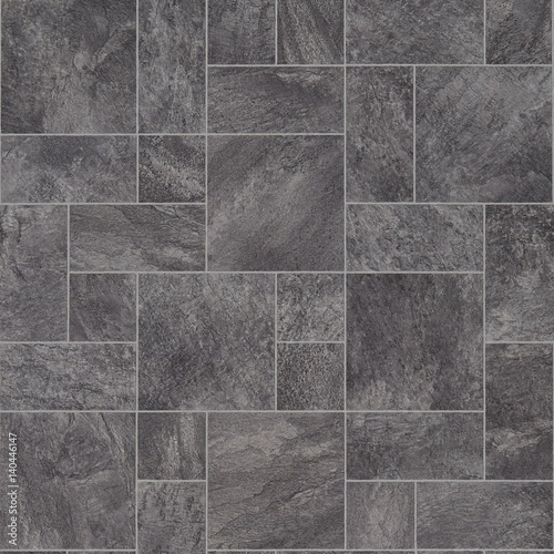 Grey Stone Tile Effect Vinyl Flooring