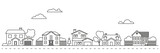 Village neighborhood vector illustration - 140448186