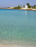 Beautiful lagoon beach on Cyprus island near Ayia Napa