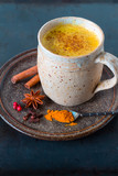 Golden Milk, made with turmeric and other spices - 140472914