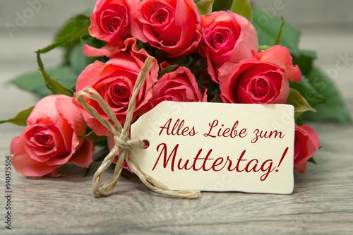 Poster Rosen zum Muttertag