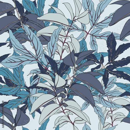 Fototapeta Leaf seamless vector pattern
