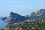 View from Palvani-Oba mountain towards Novy Svet location, Crimea, Russia.