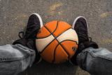 basket ball balle terrain sport jeu urban street pied chaussure attitude cool
