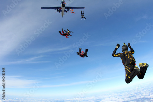 The group of skydivers