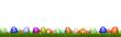 Leinwanddruck Bild - Ostereier im GRAS / Ostern / Hintergrund weiß