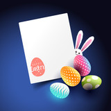 Easter docorations and layout design. Vector illustration