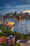 Sydney. Cityscape image of Sydney, Australia with Harbour Bridge and Sydney skyline during twilight blue hour.