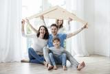 Fototapety Hausbau Familie Wohnen