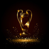 Champions Cup. Golden Soccer trophy. - 140512160