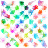 Colorful geometric background with triangular & polygonal shapes and vibrant stylish color tones. - 140526973
