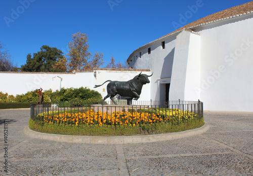 Bull statue photo detail