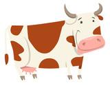 cute cow farm animal character