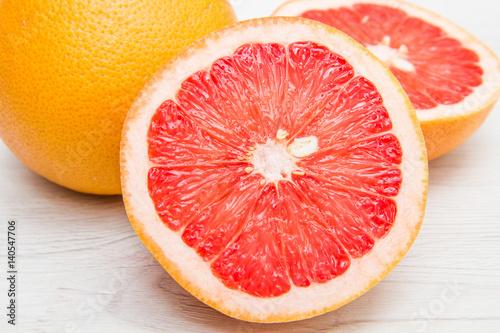 group of fresh grapefruit