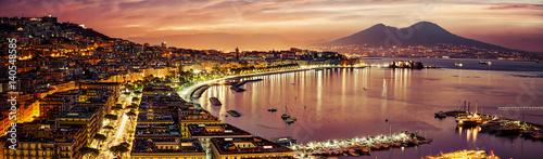 Tuinposter Napels Naples Pano
