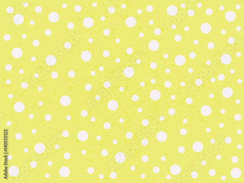 Cotton fabric cute polka dot yellow background
