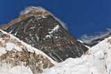 Closeup portrait of the Mt. Everest - Nepal