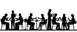 Restaurant silhouette - 140571709