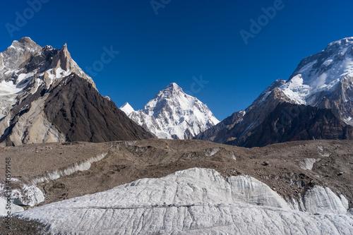Foto op Canvas Europa K2 mountain peak and Baltoro glacier, K2 trek, Pakistan