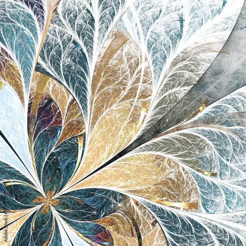 piekny-kwiatki-w-stylu-okna-witrazowe-zolta-i-zielona-paleta