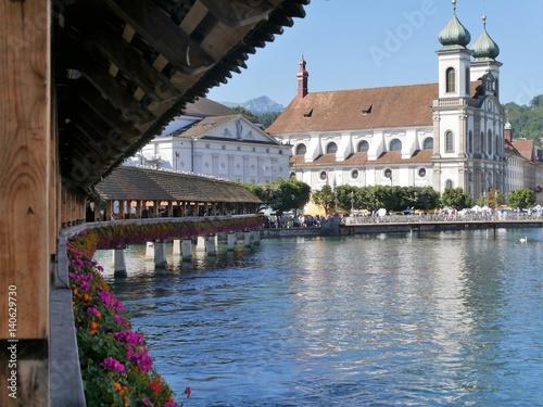 Luzern - Kapellbrücke und Wasserturm Poster
